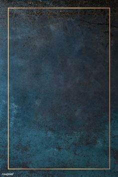 Download premium vector of Rectangle gold frame on a grunge blue