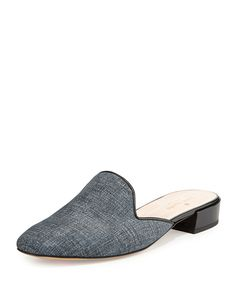 c1198e4f7631 NEED these grey slip-on shoes    Kate Spade New York Gowan Denim Suede Mules