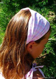 Bandeau pour les cheveux, le tuto ! Bandeaux Petites Filles, Coudre Des Bandeaux, Bandeaux Foulard, Bandeau Cheveux Enfant, Bandeau Fillette, Tuto Couture Vêtement, Tutos Couture, Couture Facile, Couture Vetement Enfant