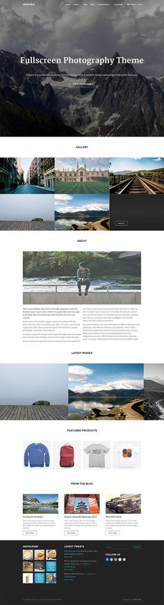 Inspiro is a responsive fullscreen photography premium WordPress theme by WPZoom. This minimal theme is perfect for any online portfolio or gallery. - WPExplorer