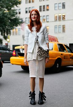 Love this #streetstyle look on Taylor Tomasi Hill #NYFW Spring 2012