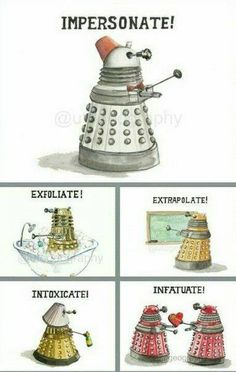 Funny pictures about The Rich Language Of A Dalek. Oh, and cool pics about The Rich Language Of A Dalek. Also, The Rich Language Of A Dalek photos. Brainstorm, Fandoms, Space Man, Serie Doctor, Doctor Who Funny, Doctor Who Humor, Doctor Who Dalek, My Sun And Stars, Don't Blink