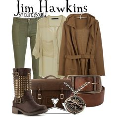 """Jim Hawkins"" by lalakay on Polyvore/DisneyBound.Tumblr"