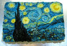 Van Gogh's Starry Night Cake by CinnamonGirl