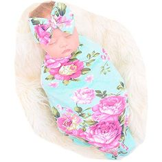 Galabloomer Newborn Receiving Blanket Headband Set Flower Print Baby Swaddle Receiving Blankets on Amazing Baby Photo 9679 Baby Swaddle Blankets, Baby Girl Blankets, Baby Pillows, Receiving Blankets, Baby Nursery Furniture, Baby Nursery Bedding, Baby Girl Photos, Newborn Photography Props