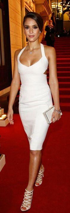 Sexy evening white dress   Lookbook