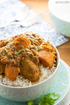 Slow Cooker Chicken Korma with Sweet Potato