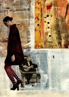 Cris Acqua; Painting, Assemblage / Collage 10- ART in Paper