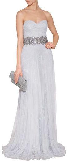 Tendance Robe du mariée 2017/2018  The most gorgeous dusty gray chantilly lace wedding dress