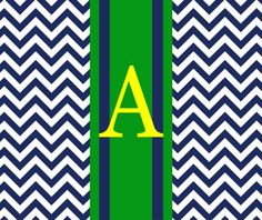 Monogrammed Preppy Mousepad CLASSY CHEVRON by Pink Wasabi Ink