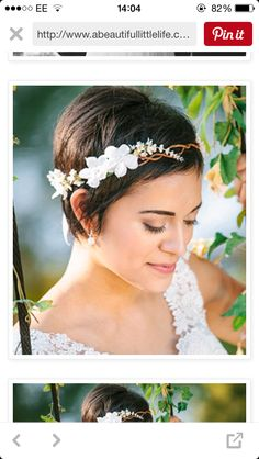 Finally a really cute wedding do for short hair!!!