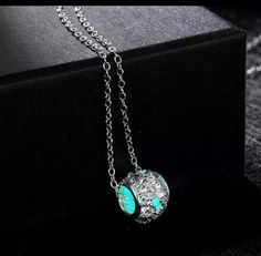 Gift Rhinestone Spacer Beads Necklace Luminous Glow in The Dark Pendant for sale online Beaded Necklace, Pendant Necklace, Costume Jewelry, The Darkest, Glow, Beads, Bracelets, Gifts, Products