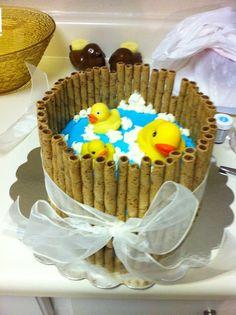 Babyshower Cake..Duckies in a Bucket!