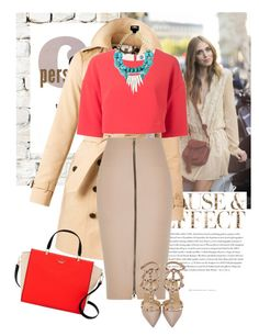 CHIC N BOLD by tanjico on Polyvore featuring polyvore fashion style MSGM Burberry River Island Valentino Kate Spade Milton & King Envi clothing
