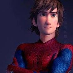 Hiccup as Peter Parker from Spider-Man