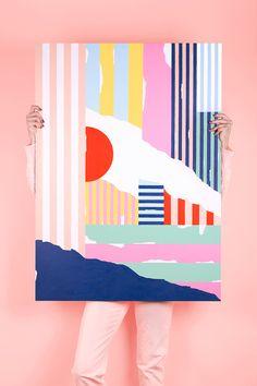 By MIREIA RUIZ Abstract #Acryliconwood 2016 Bcn   #mireiaysuscosas #cocolia#colormadefrombarcelona #mireiaruiz #painting