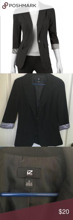 Black blazer NWOT black blazer. 75% polyester, 21% rayon, 4% spandex Iz Byer Jackets & Coats Blazers