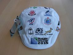 Rugby World Cup 2015 Caps - 20 Nations Rugby White Flat Cap 2015 Rugby World Cup, Flat Cap, White Flats, Jansport Backpack, Pin Badges, Bags, Handbags, Pillbox Hat, Totes