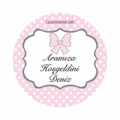 Baby Shower Sticker Puantiyeli Fiyonklu Model 24 Adet PFYNKET0001 Baby Stickers, Planner Stickers, Logo Cookies, Baby Shower, Party Printables, Diy And Crafts, Polka Dots, Iphone, Model