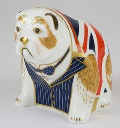 Royal Crown Derby limited edition Winston Churchill Bulldog. Designed to celebrate the life of a great British hero.