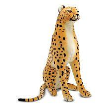 Melissa  Doug Lifelike and Lovable Plush Cheetah