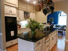 White Kitchen, Black Granite.