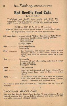 Devils Food Cake vs Chocolate Cake (retro recipes)