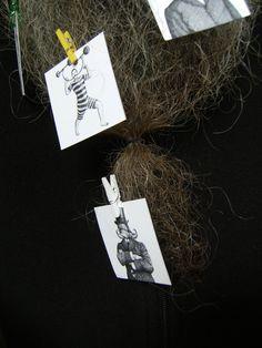 BEARD GALLERY - Opere di Antonio Bonanno installate sulla mia barba (Galleria Pensile)
