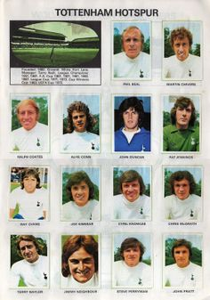 TOTTENHAM HOTSPUR 1975-76. By Soccer Stars. | The Vintage Football Club