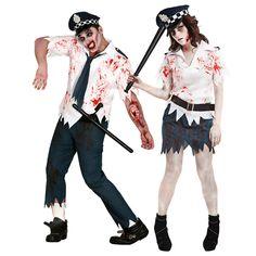 Pareja Policías Zombies #parejas #disfraces #carnaval #novedades2016