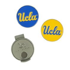 UCLA Hat Clip and Ball Markers by Team Effort. $9.99. Magnetic hat clip with ball markers attaches to hat or visor.  Includes interchangeable ball markers with collegiate trademark.