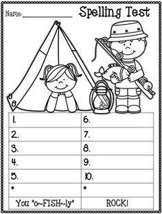 Free Printable Spelling Test Template  Homeschool