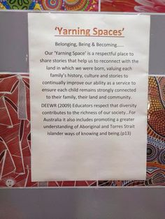 Great description and inspiration for a yearning space! Aboriginal Art For Kids, Aboriginal Education, Indigenous Education, Aboriginal Culture, Aboriginal Language, Multicultural Activities, Learning Activities, Teaching Resources, Learning Stories