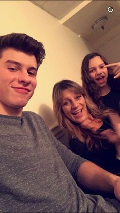 Shawn with his mum & sister