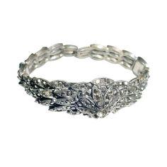 1stdibs | Elaborate 1930s marcasite clamper bracelet