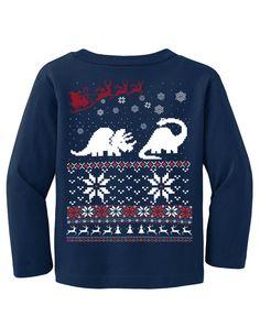 Ugly Christmas sweater  Dinosaur t shirt and Santa by skipnwhistle, $24.00