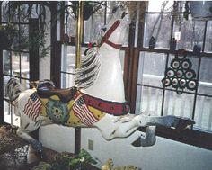 C.W. Parker Style Stargazer Carousel Horse