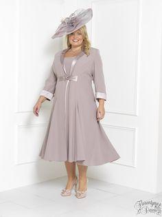 Florentyna Dawn Steely Pink  Brigitte Dress and Swing Coat (FD1739)