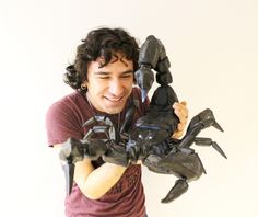 This Huge Scorpion is 3D Printed in 53 Articulated Parts http://3dprint.com/88633/3d-printed-scorpion-2/