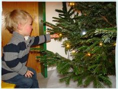 Tymen discovering the tree Christmas Home, Tree Skirts, Holiday Decor, Home Decor, Decoration Home, Room Decor, Home Interior Design, Home Decoration, Interior Design