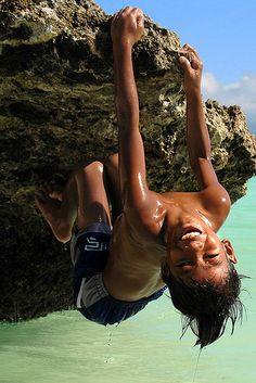 Hanging On - Boracay Island Philippines
