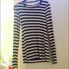 Black and white striped T-shirt dress Mini dress, flattering, soft fabric Dresses Mini