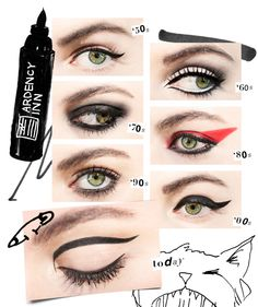 "ARDENCY INN's new PUNKER World's Baddest Eyeliner—a long-lasting carbon-black liquid liner pen exclusive to Sephora—was inspired by the coolest girls of all: punk rock stars. ""ARDENCY INN was created. Make Up Looks, Power Of Makeup, Beauty Makeup, 90s Makeup, Makeup Eyes, How To Apply Eyeliner, Eyeliner Types, Applying Mascara, Flawless Makeup"