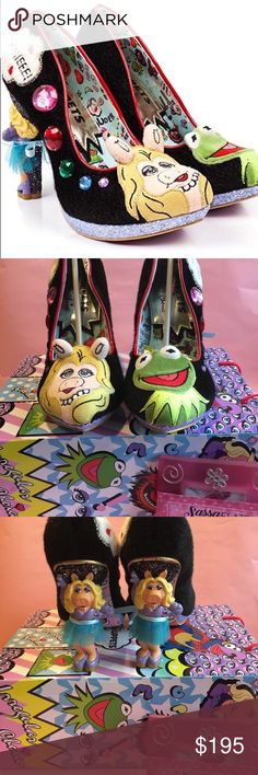 NIB 💝❤️ Irregular Choice Miss Piggy and Kermit👠 Irregular Choice Miss Piggy and Kermit Power Couple Shoes size 40 (9) in irregular Choice. Hard to find In stores New in Box All offers are welcome 😀 Irregular Choice Shoes Heels