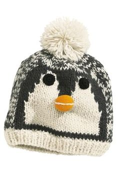 Girls Penguin Beanie