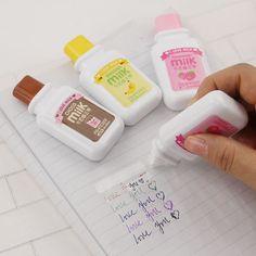 1 x Lindo Vía Cinta Correctora Material Escolar Kawaii Papelería Escuela Material de Oficina