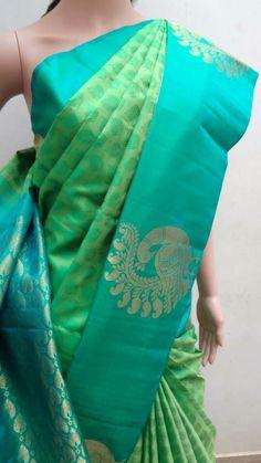 for the color of the sea green and blue border South Indian Sarees, Indian Silk Sarees, Ethnic Sarees, Soft Silk Sarees, Indian Beauty Saree, Chiffon Saree, Party Sarees, Wedding Silk Saree, Elegant Saree