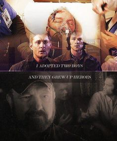 """I made it through 6 seasons of Supernatural without shedding a single tear. """"Death's Door"""" had me bawling like a baby for at least 15 minutes. Supernatural Bobby, Supernatural Quotes, Sherlock Quotes, Supernatural Seasons, Sherlock Holmes Benedict, Sherlock John, Benedict Cumberbatch, Winchester Boys, Winchester Brothers"""