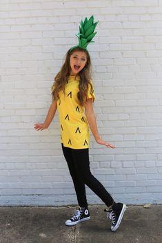 Pineapple Costume! #Halloween #costume #pineapple #adorable #halloweencostumekids