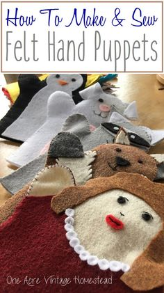 How to Make & Sew Felt Hand Puppets for Kids